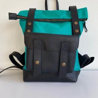 Универсальный  рюкзак из кожи и водонепроницаемой ткани, водонепроницаемый рюкзак