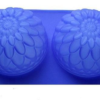 Силиконовая форма для мыла 2-02 Георгин 2 шт., 7см