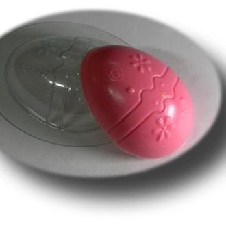 Форма для мыла пластиковая Яйцо с рисунком
