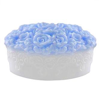Форма Люкс для мыла силиконовая Овал в цветах 3D
