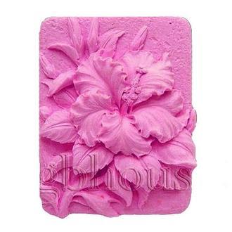 Форма Люкс для мыла силиконовая Гибискус 2D