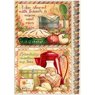 Бумага для декупажа 21х30 см Рецепт пирога