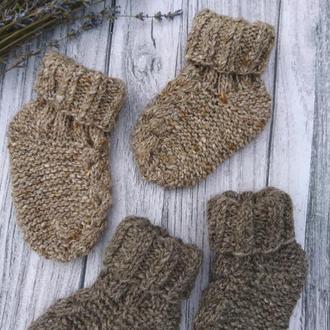 Набор - шерстяные носочки - теплые носки  для подарка малышам