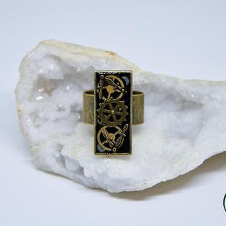 Прямоугольное стимпанк кольцо