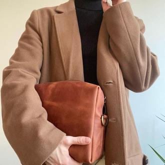 Женская сумка через плечо из кожи, модная винтажная маленькая повседневная мини-сумка