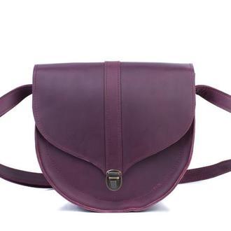 Элегантная женская сумка через плечо из кожи, полукруглая сумка ручной работы из натуральной кожи
