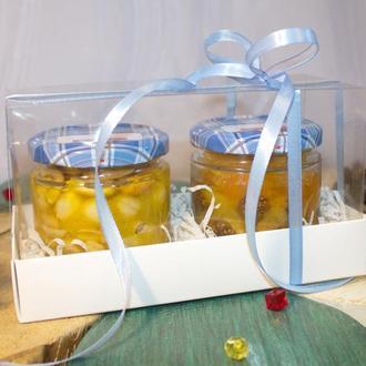Мед с орехами, подарочный набор.
