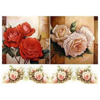 Бумага для декупажа 21х30 см Три большие розы
