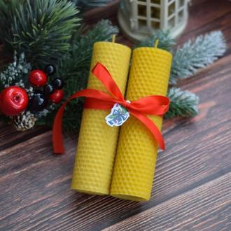 Набор новогодних свечей (2 шт)