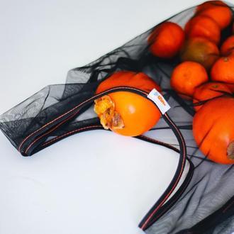 Многоразовый черный пакет-маечка для покупок. Очень практичный и вместительный. Днепр, Киев