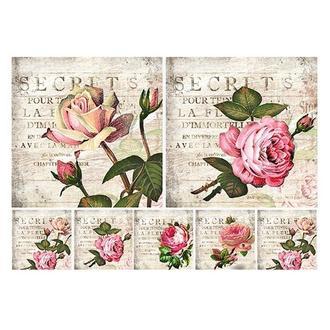 Бумага для декупажа 21х30 см Розы винтаж