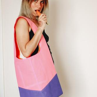 Большая  эко-френдли сумка, сумка на пляж, море, шоппер Рик, замена пакетам. Одесса Львов Киев
