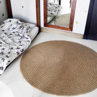 Коврик (130cм) из джута круглый