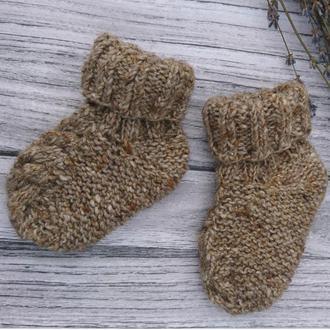 Шерстяные носочки - теплые вязаные носки для малышей