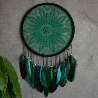 Ловец снов в бохо стиле, декор и оберег снов, оригинальный подарок близким и друзьям