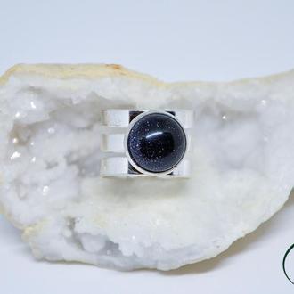 Широкие кольца с натуральными камнями