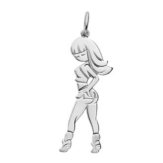 Кулон-подвеска Танцы Pole Dance TWERK BOSNEX Sexy Necklace Pendant Серебро (JSP-0011)