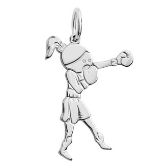 Кулон-подвеска Боксер Кикбоксинг BOSNEX Boxing Necklace Pendant Серебро (JSP-0005)