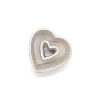 Бетонный горшок Сердце (Белое)