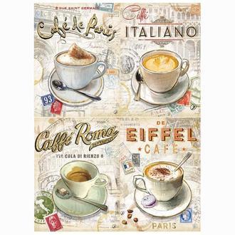 Бумага для декупажа 21х30 см Кофе в Италии