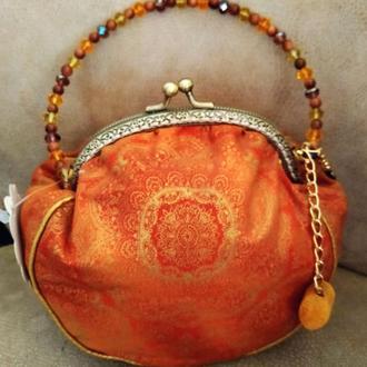 Текстильная сумочка с фермуаром