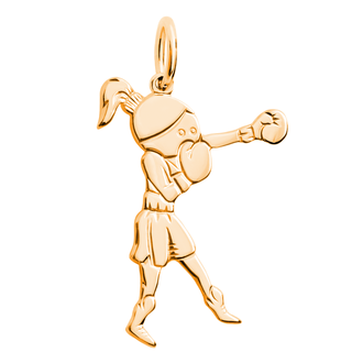 Кулон-подвеска Боксер Кикбоксинг BOSNEX Boxing Necklace Pendant Золото (JGP-0105)