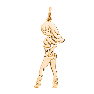 Кулон-подвеска Танцы Pole Dance TWERK BOSNEX Sexy Necklace Pendant Золото (JGP-0111)