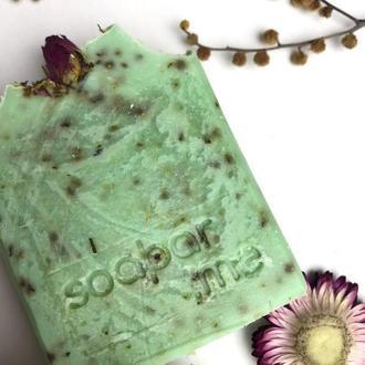 Натуральное мыло (Мята, зеленая глина)
