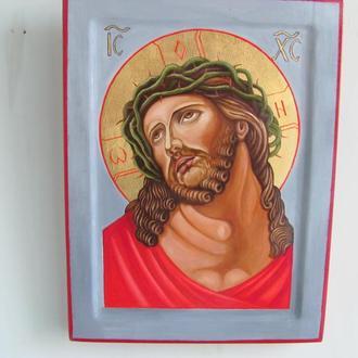 """Икона""""Иисус Христос в терновом венце"""".Достаточно редкая поэтому занимает особое место в иконографии"""