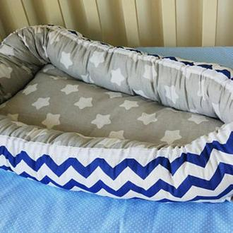 Кокон для малыша Blue Chevron