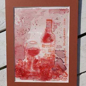 Картина вином, Мальбек.