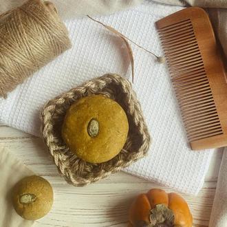Тыква и Апельсин - твердый растительный шампунь