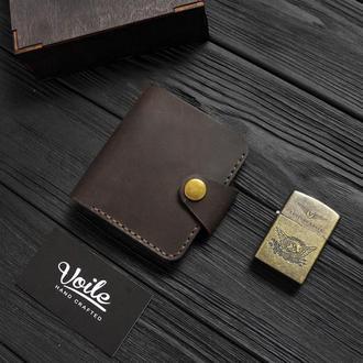 Мужской кожаный бумажник  VOILE vl-mw8-brn