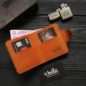 Мужской кожаный бумажник VOILE vl-mw8-kgin-tbc из кожи Краст