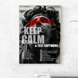 "Мотивирующий постер ""Тестируй софт"" - плакат для дома и офиса"
