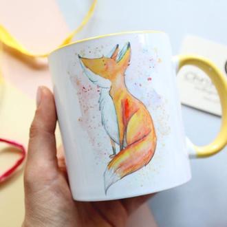 """Чашка с лисичкой """"Береги свое солнце"""""""