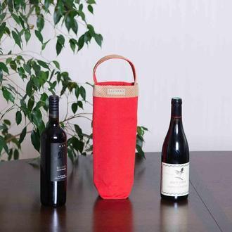 Шопперы для вина. Эко-сумки в стильных цветах.