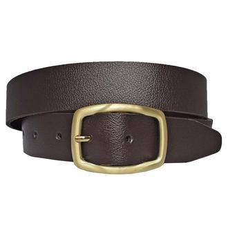 Ремень кожаный женский темно-коричневый для джинсов Ofelia