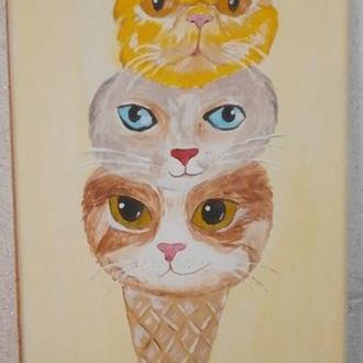 """Картина """"Рожок с котятками"""""""