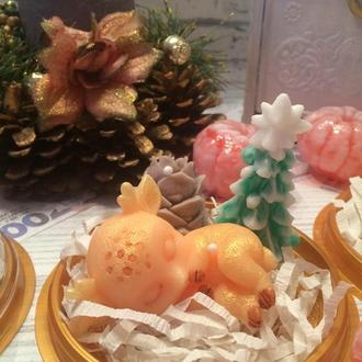 Мыло детское, сувенирное, натуральное  олененок Бемби