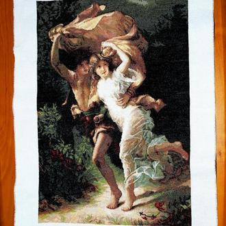 """Картина вышитая крестом """"Гроза"""""""