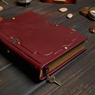 Кожаный винтажный блокнот