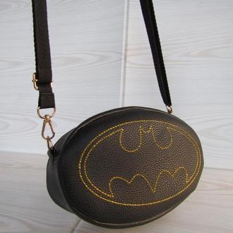 "Клатч - таблетка / поясная сумка handmade ""бэтмен"""
