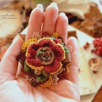 Брошь ′Нарисуй мне осень′