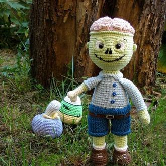 """Подарочный набор вязаных игрушек """"Милый зомби Шон"""""""