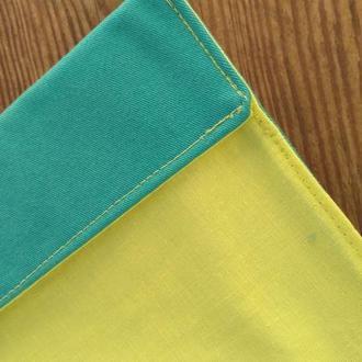 Обложка для книги или блокнота из ткани (тканевая, универсальный размер, двусторонняя)