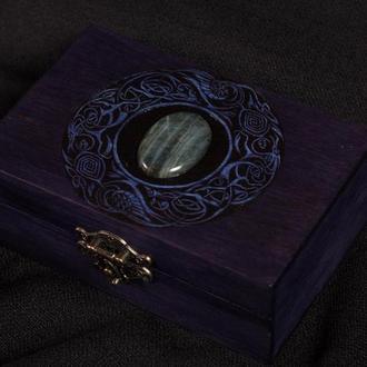 "Шкатулка для карт Таро ""Violet Celt""."