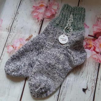 Вязаные шерстяные носки  размер 37-38