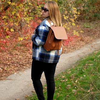 Рюкзак из натуральной кожи. Стильный городской кожаный рюкзак
