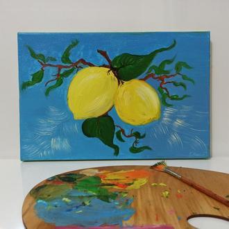 """Картина маслом """"Лимони"""""""